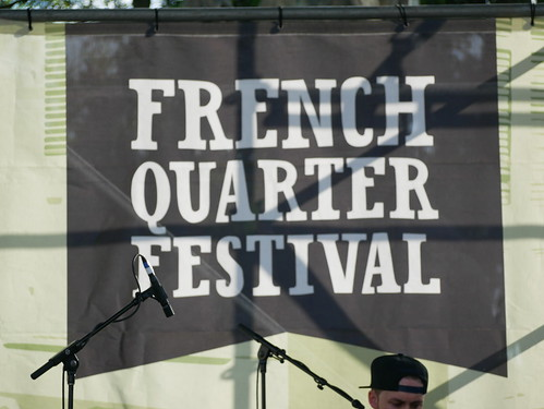 Sign on Day 1 of French Quarter Fest - 4.11.19. Photo by Louis Crispino.