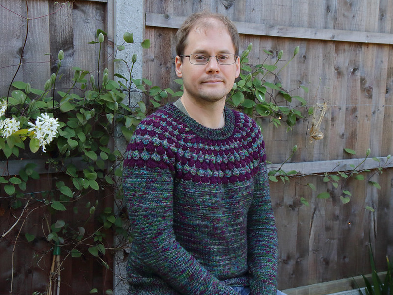 The Bubble Sweater by Stephen West in It's a Stitch Up Dynamite DK