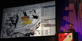 TypeCon 2017: John Roshell on ZAP! POW! BAM! Comic Book Lettering, from Pens to Pixels | by composerjk