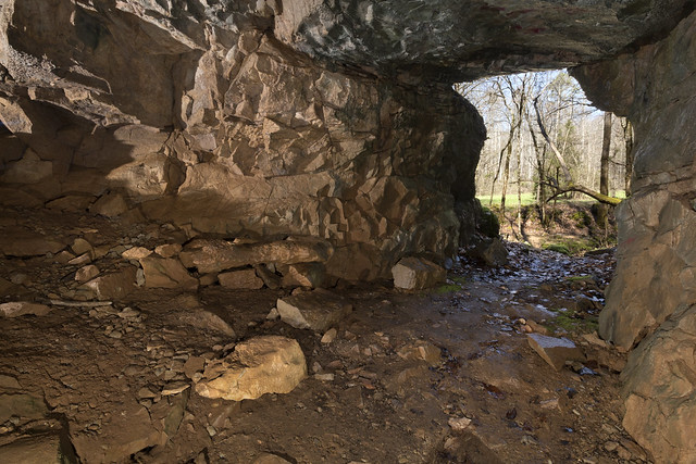 She-Devil Cave twilight, Lost Creek SNA, White County, Tennessee