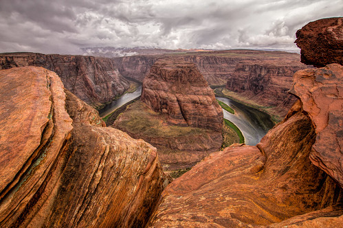 2015 may kevinpovenz arizona page southwest horseshoecanyon canyon landscape outside outdoors sky clouds cloudy river rock rain rainy usa deep dropoff nature scenic canon60d sigma 1020