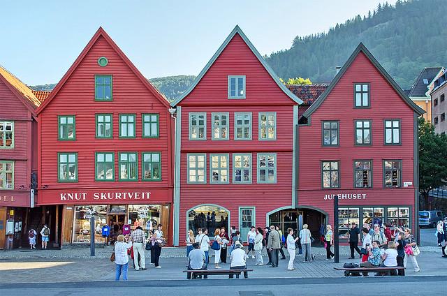 Bryggen, Bergen - 16 Aug 2012