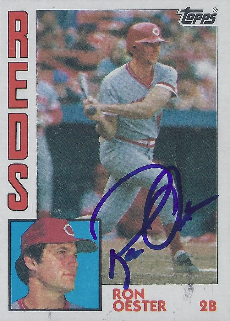 1984 Topps Ron Oester 526 Second Base Autographed B Flickr