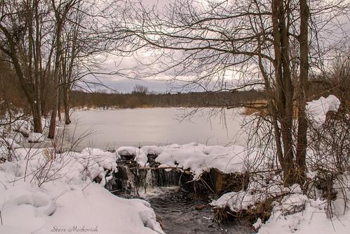 smack53 winter wintertime winterseason winterscenery snow snowfall water pond lake waterfall westmilford newjersey nikon d3100 nikond3100