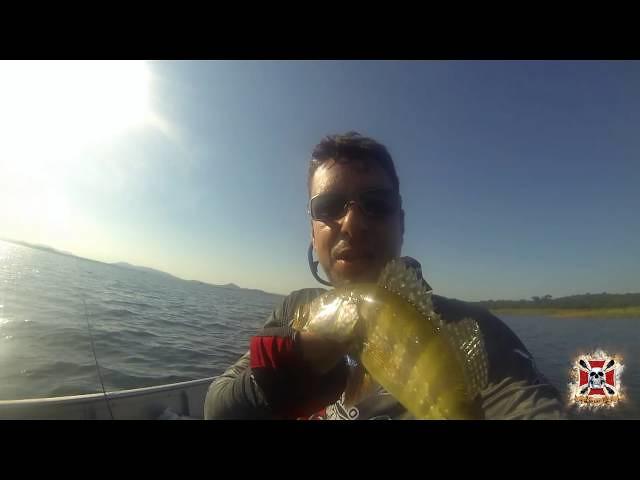 Pesca de Tucunaré Baitcasting Fishing Tupaciguara Minas Gerais Brasil 05 04 2016