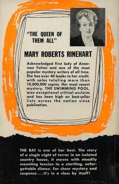 Dell Books 652 - Mary Roberts Rinehart - The Bat (back)