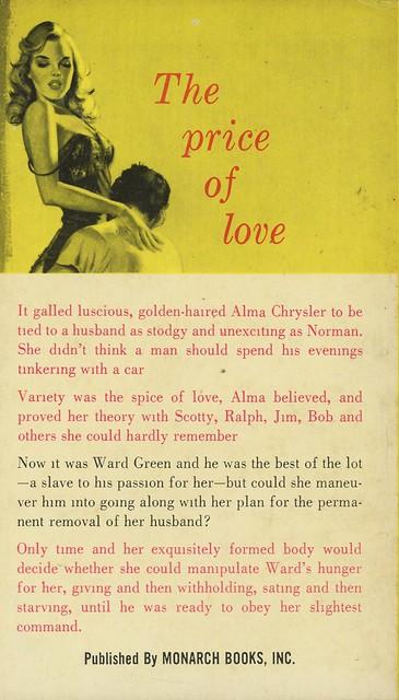 Monarch Books 178 - Tedd Thomey - When the Lusting Began (back)