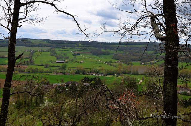 A perte de vue autour de Montpezat, le printemps réveille le Pays de Serres.