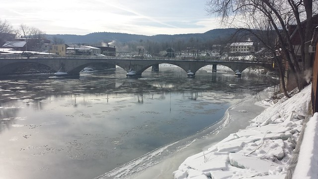 This time it's Shelburne Falls in the winter.