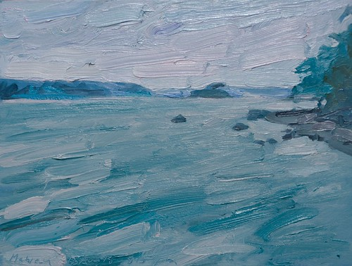"""""""Nightfall in Turquoise and Cobalt"""" by Brian Mahieu 