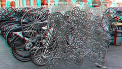 Fietsenrek Rokin Amsterdam 3D