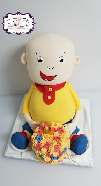 Caillou Cake by Suzie B of SueCré