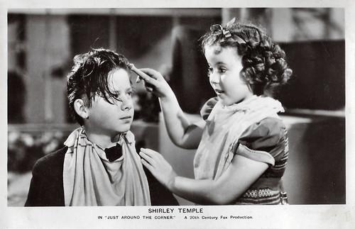 Shirley Temple and Bennie Bartlett in Just Around the Corner (1938)