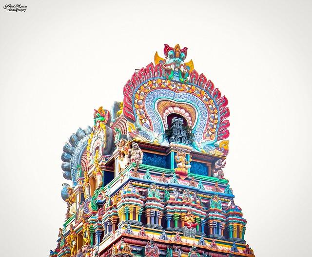 Monumental tower of Mailam Murugan Temple !