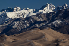 Wintery Contrasts, Great Sand Dunes and Sangre de Cristo Mountains