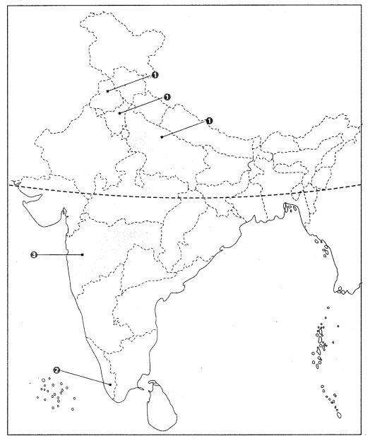 Class 10 Geography Map Work Chapter 4 Agriculture Q8