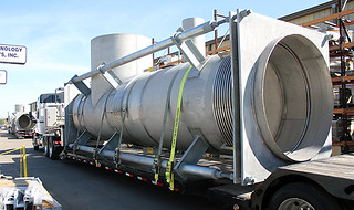 """81"""" Diameter Pressure Balanced Tee Expansion Joints Custom Designed for a Chemical Plant 