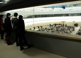 Visitors Look on during 40th Session of Human Rights Council | by United Nations Photo