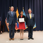Fri, 03/29/2019 - 14:29 - On Friday, March 29, 2019, the William J. Perry Center for Hemispheric Defense Studies hosted a graduation ceremony for two courses: 'Strategic Implications of Human Rights and Rule of Law' and 'Combating Transnational Threat Networks.' Students from all over the Americas attended the courses from March 18-29, 2019. The graduation ceremony and reception took place in Lincoln Hall at the National Defense University's North Campus at Fort McNair in Washington, DC.