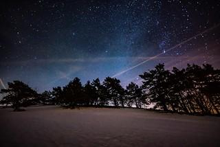 Orion am Nachthimmel über der Eifel
