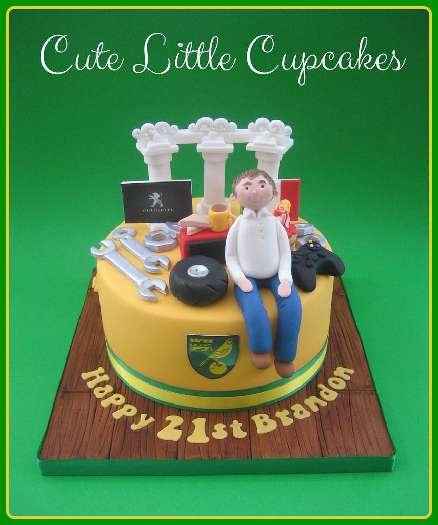 Peachy Favourite Things 21St Birthday Cake Heidi Stone Flickr Funny Birthday Cards Online Benoljebrpdamsfinfo