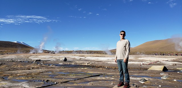 El Tatio Geothermal Field (Geysers) at 4,321 meters (14,176.51 ft) above sea level, Calama, Chile.