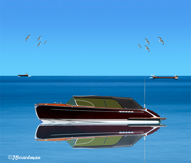 The speedboat slowed to a stop ©Jack Boardman