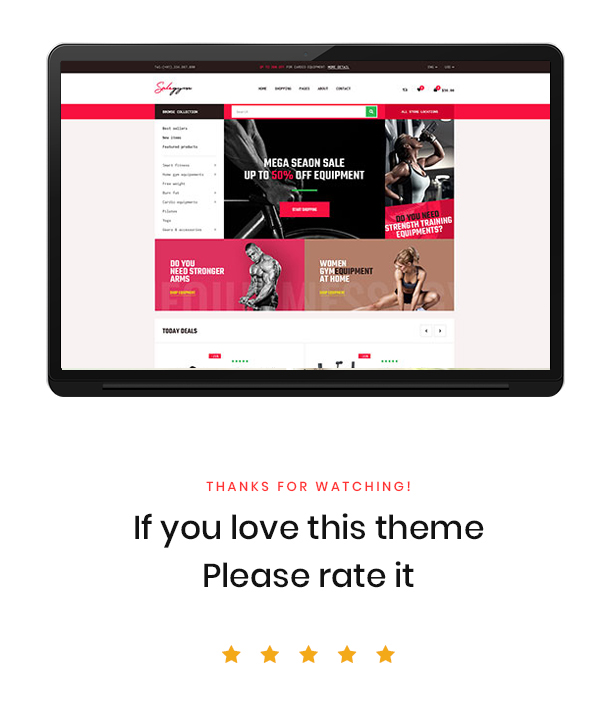 Bos Gymgear Creative PrestaShop Sport Theme - Good Reviews