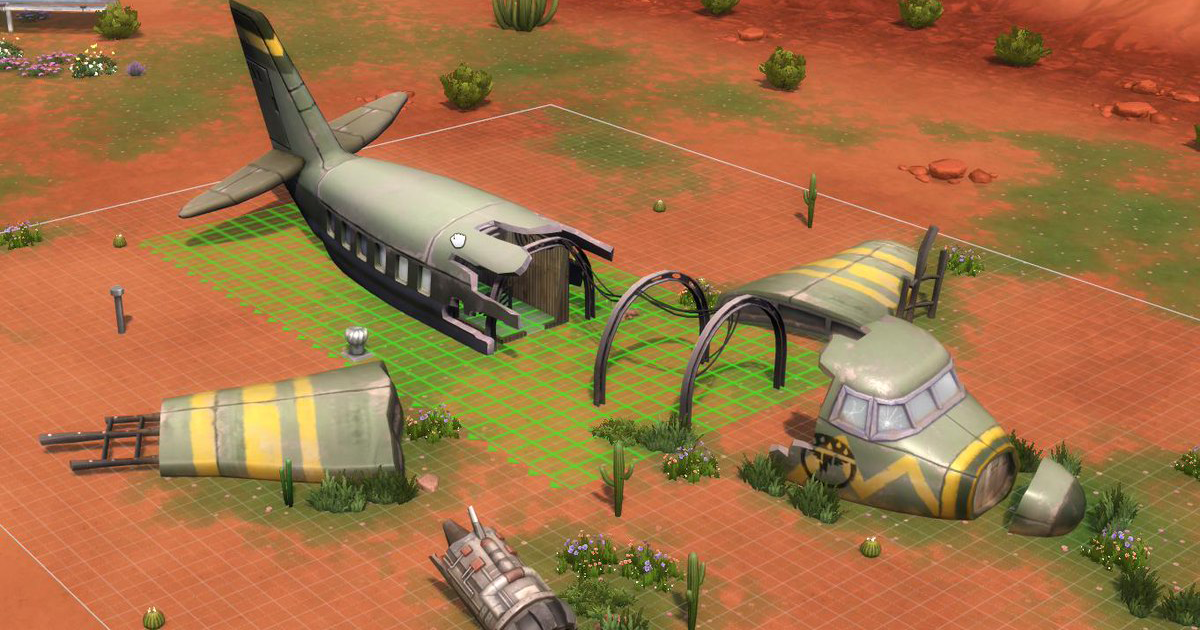 Photo of The Sims 4 StrangerVille: Imagem do Avião Caído