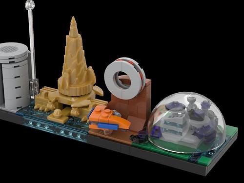 LEGO Avengers Skyline Architecture MOC 09   by MOMAtteo79