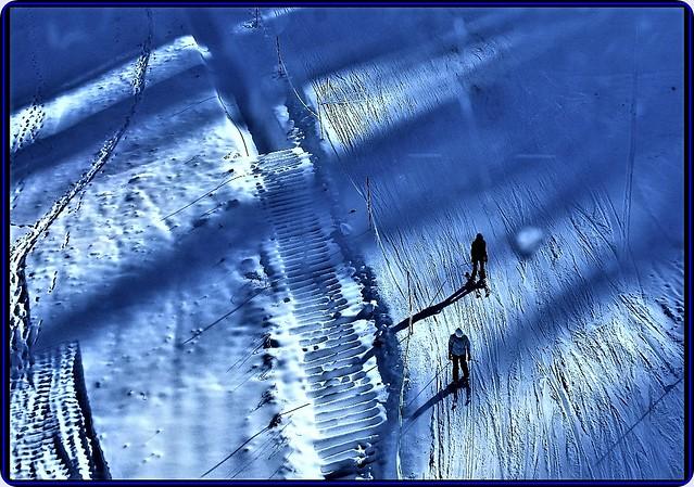 Skiing in the Bucegi mountains, Romania