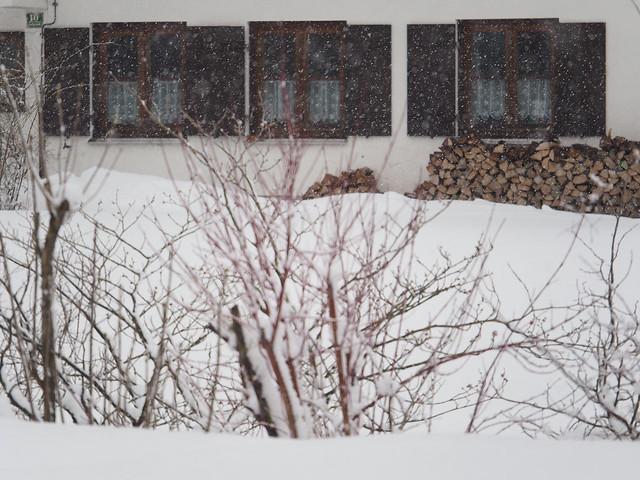 Snow Snowing Bavaria Germany House Window © Es schneit Schnee Bayern Oberbayern Haus Fenster ©