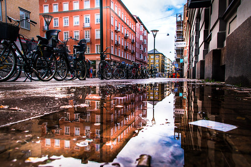 Puddle reflection | by Maria Eklind