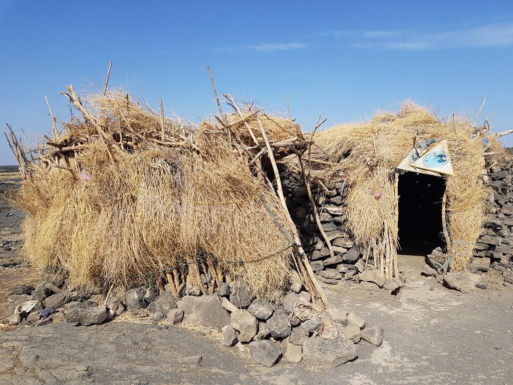 Pierwszy obóz w drodze do Erta Ale, Etiopia