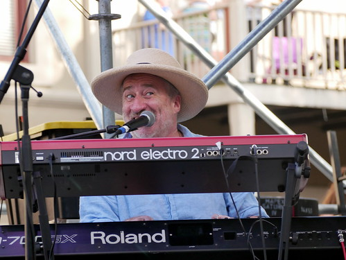 Jon Cleary on Day 1 of French Quarter Fest - 4.11.19. Photo by Louis Crispino.