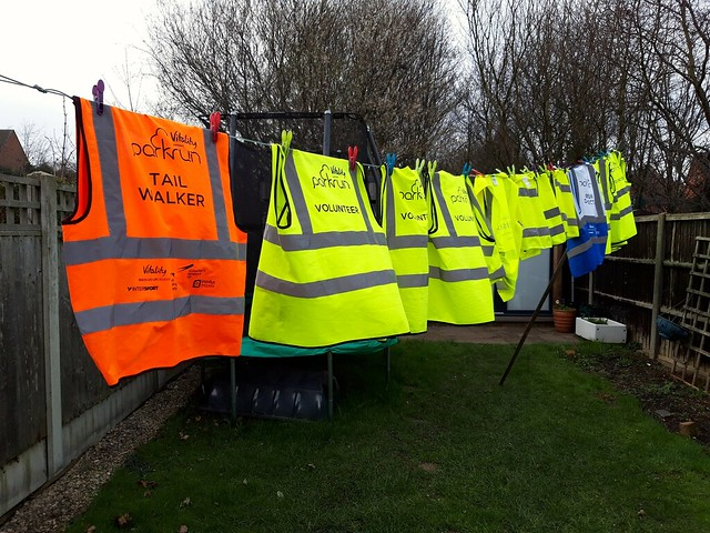 A line of hi vis Sat 9 March