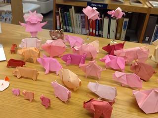 Pigs on Display (left)