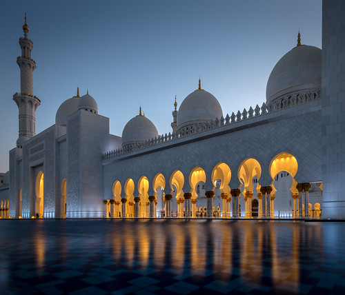 sheikhzayedgrandmosque arab uae abudhabi islam worship prayer mosque sunset travel architecture building ngc