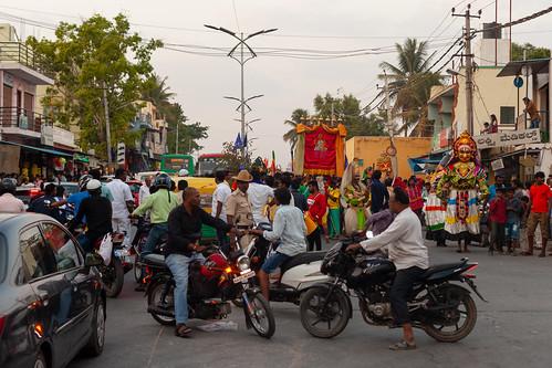 Kannakapura road mess - festival and traffic... | by Scalino