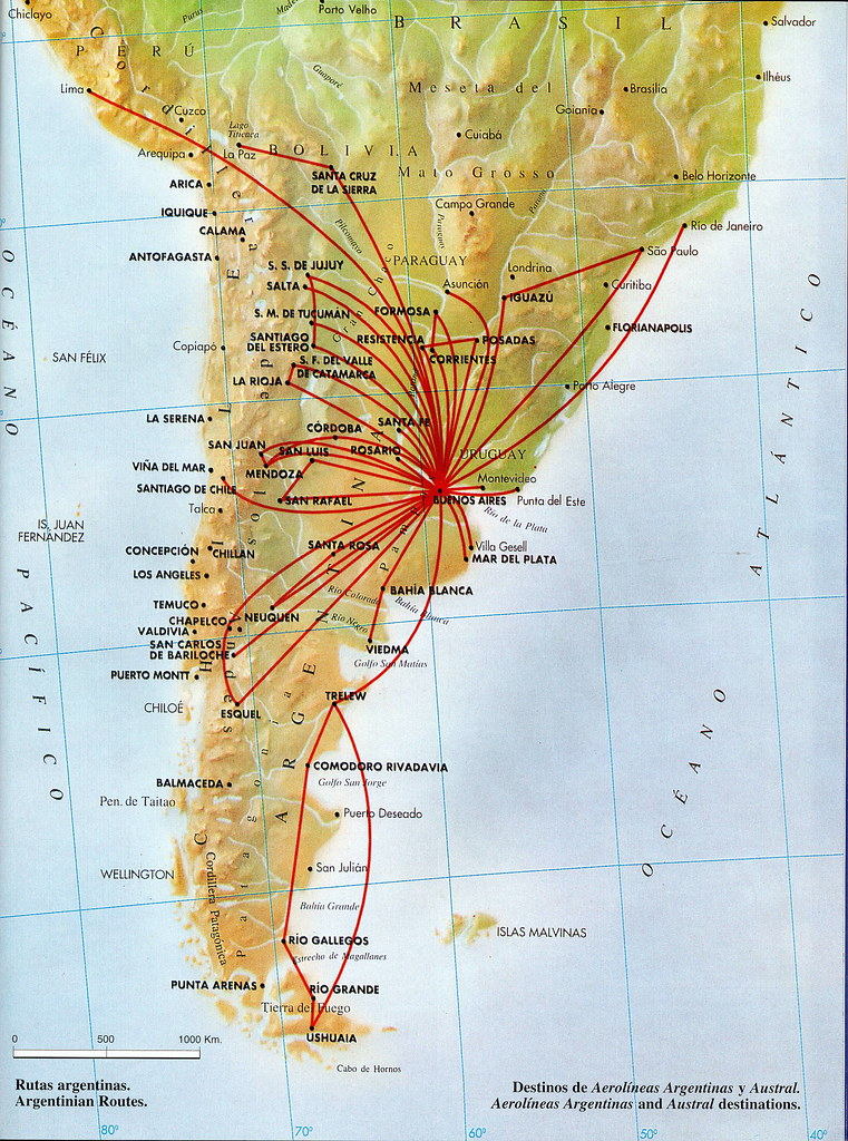 aerolineas argentinas route map Aerolineas Argentinas Domestic Routes 1998 Aerolineas Arg Flickr aerolineas argentinas route map