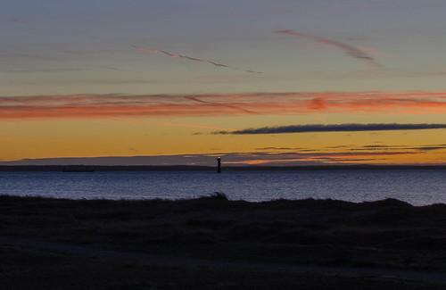 evening sky sunset lighthouse vikenlighthouse viken skåne öresund landscape seascape