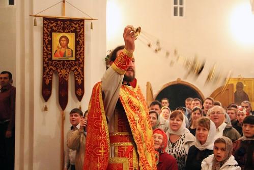 Пасхальное Богослужение в Свято-Никольском храме станицы Кавказской IMG_1378