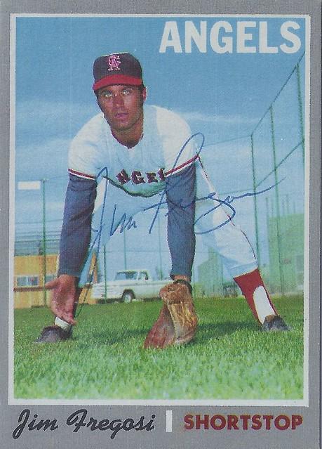 1970 Topps - Jim Fregosi #570 (Shortstop) (b. 4 Apr 1942 – d. 14 Feb 2014 at age 71) - Autographed Baseball Card (Los Angeles Angels)