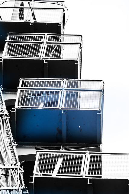 Stairway to the top of the transporter bridge