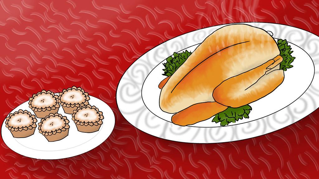 Mince Pies + Turkey Dinner