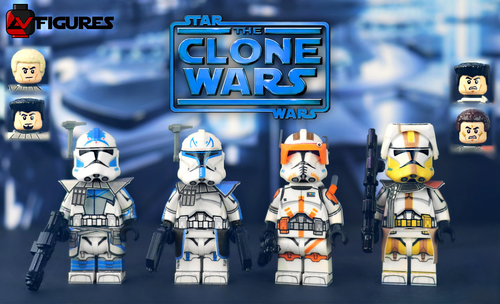 LEGO Star Wars: The Clone Wars - AV Figures Captain Rex, C… | Flickr