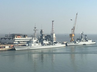 French Navy frigate FNS Cassard calls at the military port of Mumbai. | by FranceinIndia