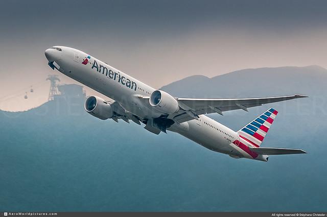 [HKG.2016] #American.Airlines #AA #Boeing #B777 #N723AN #awp
