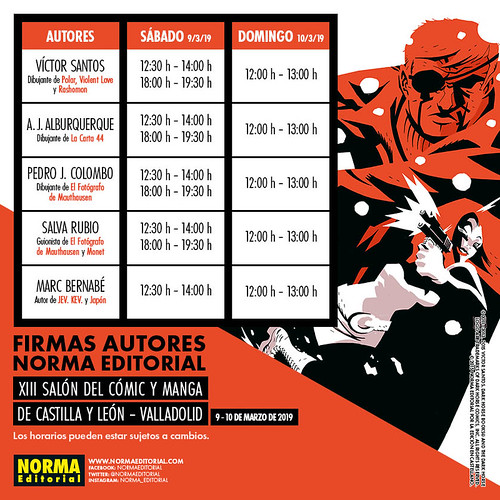 PREVIEW HORARIOS RRSS SALON MANGA Y COMIC CASTILLA LEON 2019 | by Asofed2019