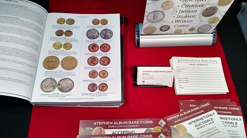 Stephen Album table 2019-03 Whitman Coin Expo | by Numismatic Bibliomania Society
